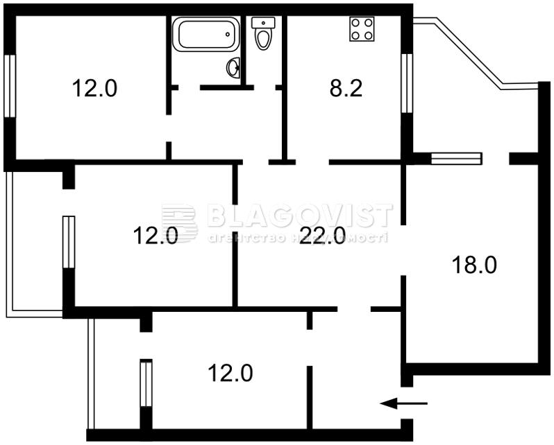 Квартира R-34451, Маяковського Володимира просп., 97/15, Київ - Фото 3