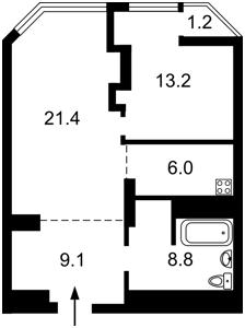Квартира Болсунівська (Струтинського Сергія), 2, Київ, F-43653 - Фото2
