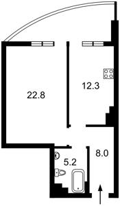 Квартира Лабораторный пер., 7, Киев, H-47517 - Фото 2