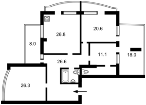 Квартира Підвисоцького Професора, 6в, Київ, H-47920 - Фото2