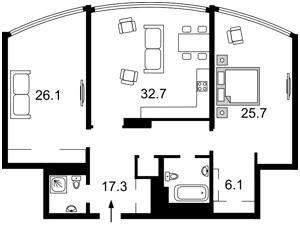 Квартира Никольско-Слободская, 3а, Киев, I-31436 - Фото2