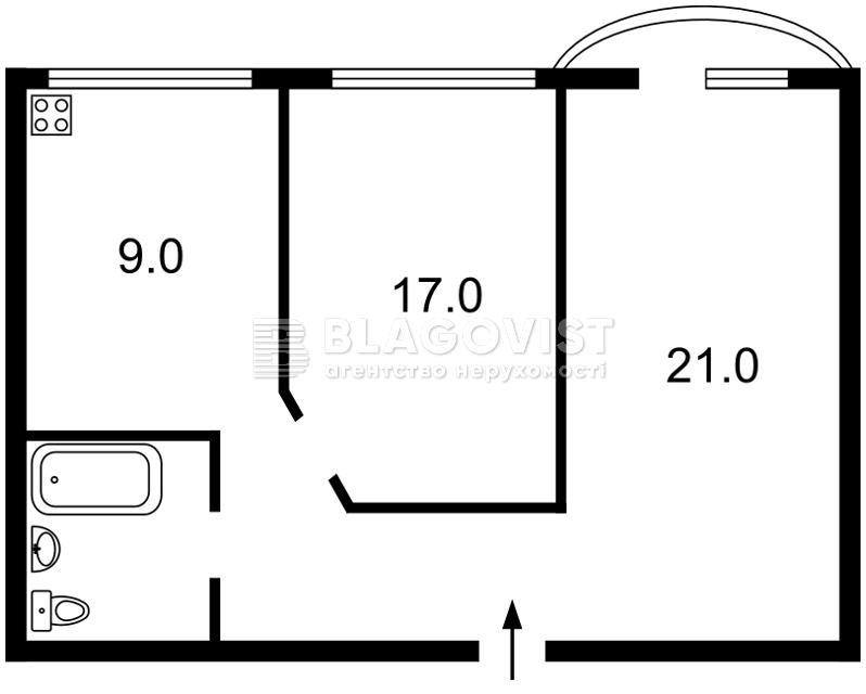 Квартира E-40029, Рогнідинська, 5/14, Київ - Фото 3
