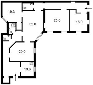 Квартира Хмельницкого Богдана, 32, Киев, R-35060 - Фото2