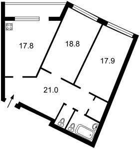 Квартира Мельникова, 18б, Київ, F-43989 - Фото2
