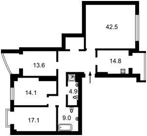 Квартира Лютеранська, 10а, Київ, D-36845 - Фото2