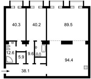 Квартира Мичурина, 56/2, Киев, C-108998 - Фото 2