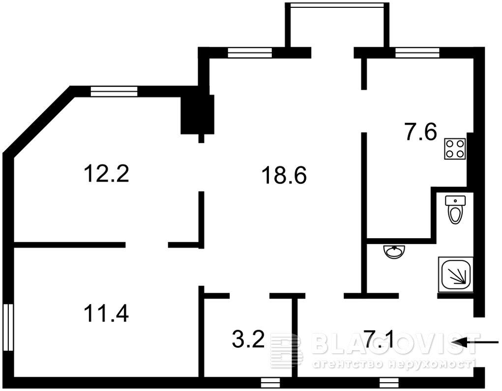 Квартира R-37990, Набережно-Крещатицкая, 7, Киев - Фото 3