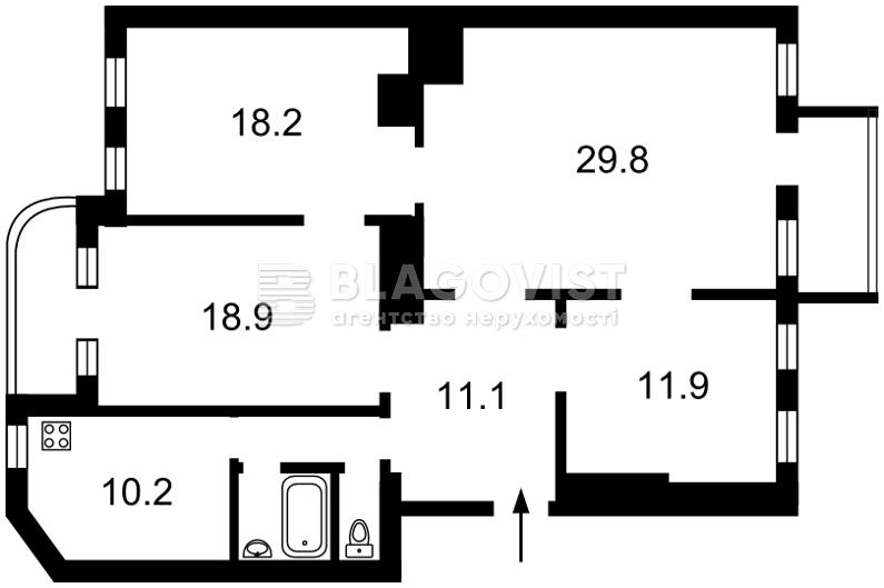 Квартира E-40930, Котарбинского Вильгельма (Кравченко Н.), 21, Киев - Фото 2