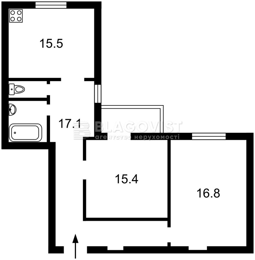 Квартира D-37206, Саксаганского, 129а, Киев - Фото 3