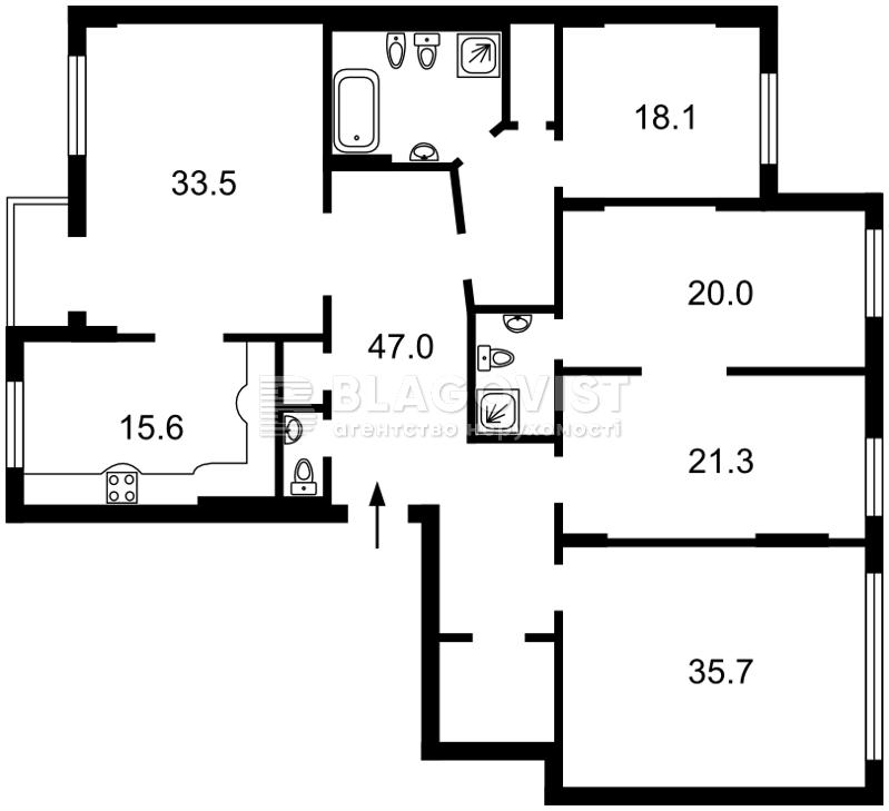 Квартира M-39125, Крещатик, 27б, Киев - Фото 3