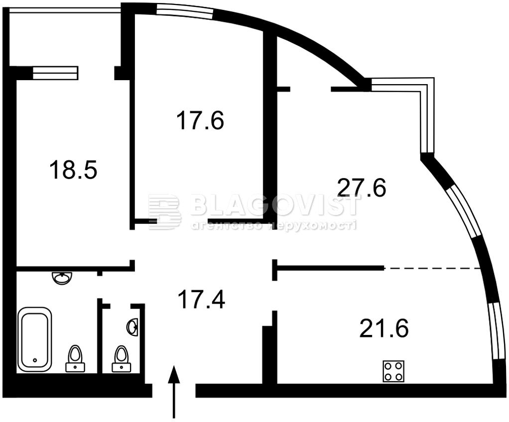 Квартира E-41465, Голосеевский проспект (40-летия Октября просп.), 68, Киев - Фото 3