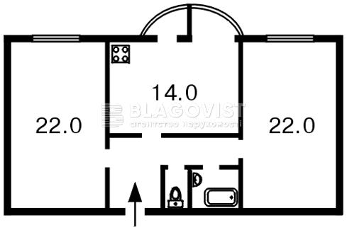 Квартира C-83333, Жилянская, 30а, Киев - Фото 3