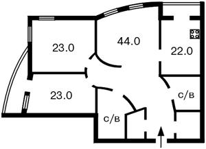 Квартира Тургенєвська, 28а/30а, Київ, B-69809 - Фото 2