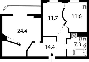 Квартира Татарська, 7, Київ, Z-1586801 - Фото 2