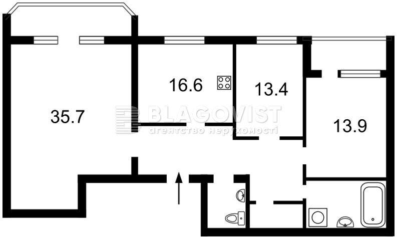Квартира F-24240, Бехтеревский пер., 14, Киев - Фото 7
