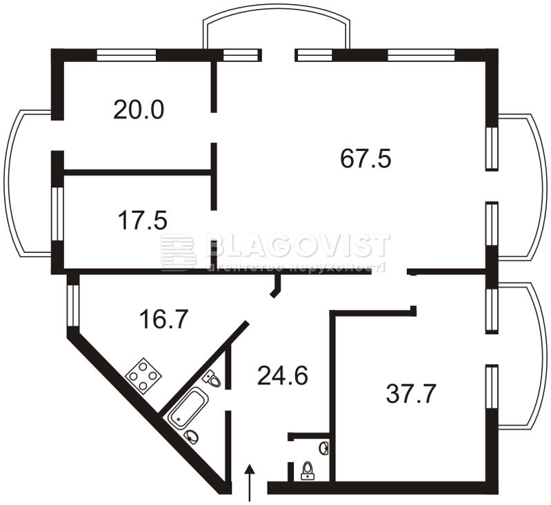 Квартира G-1262, Антоновича (Горького), 140, Киев - Фото 9