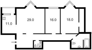 Квартира Коновальца Евгения (Щорса), 32г, Киев, D-16451 - Фото2
