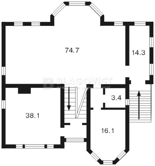 Дом F-18481, Петропавловская Борщаговка - Фото 2