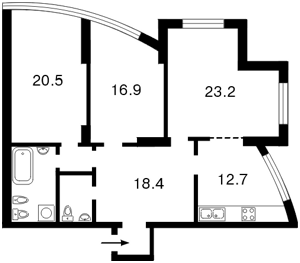 Квартира Героїв Сталінграду просп., 2г корпус 2, Київ, G-18604 - Фото2