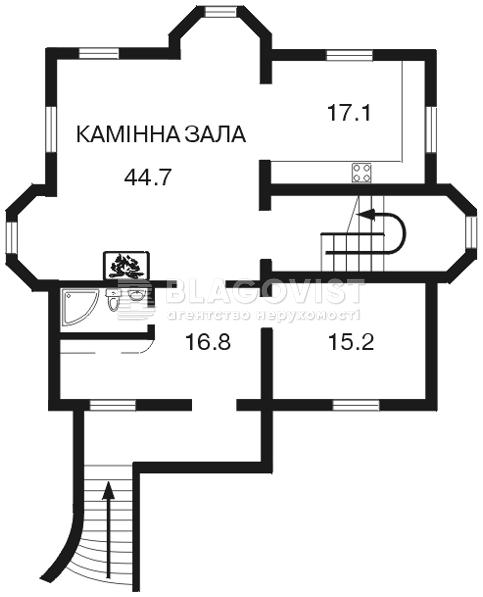 Дом C-89397, Петропавловская Борщаговка - Фото 1
