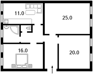 Квартира Хмельницького Богдана, 9б, Київ, C-62658 - Фото 2