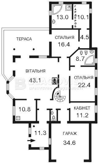 Дом F-15088, Белогородка - Фото 3
