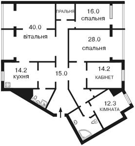 Квартира Бажана Николая просп., 36, Киев, B-60788 - Фото 2