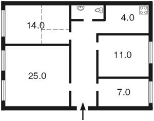 Квартира Винниченка Володимира (Коцюбинського Юрія), 20, Київ, Z-685864 - Фото2
