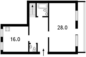 Квартира Болбочана Петра (Каменєва Командарма), 4а, Київ, J-11816 - Фото2