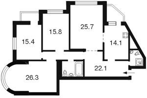 Квартира Срібнокільська, 22, Київ, Z-705654 - Фото2