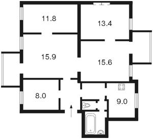 Квартира Левандовская (Анищенко), 5, Киев, Z-753161 - Фото2
