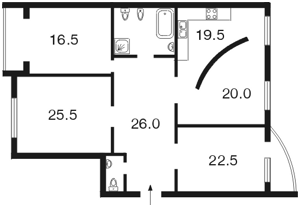 Квартира Тимошенка Маршала, 21 корпус 9, Київ, B-80261 - Фото2