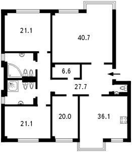 Квартира Институтская, 18б, Киев, B-80314 - Фото2