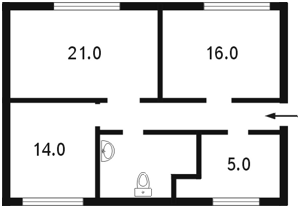 Офіс, Винниченка Володимира (Коцюбинського Юрія), Київ, C-71388 - Фото 2