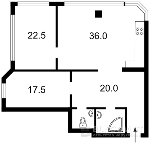 Квартира Z-932171, Гетьмана Вадима (Индустриальная), 1в, Киев - Фото 6