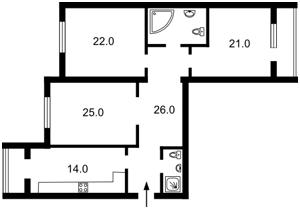 Квартира Ковпака, 17, Київ, Z-926534 - Фото2