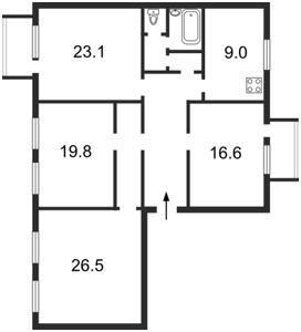 Квартира Обсерваторна, 5, Київ, K-11937 - Фото2