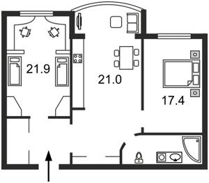 Квартира Героев Сталинграда просп., 8 корпус 5, Киев, F-11737 - Фото2
