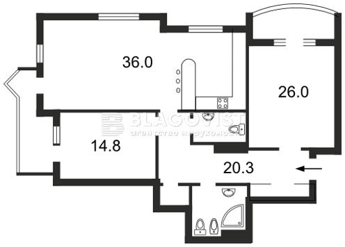 Квартира F-25592, Дмитриевская, 13а, Киев - Фото 4