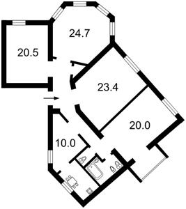 Квартира Коцюбинского Михаила, 2, Киев, F-8985 - Фото2