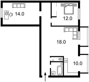 Квартира Большая Васильковская, 45, Киев, B-83275 - Фото2