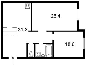 Квартира Кудрявский спуск, 3б, Киев, Z-1035207 - Фото2