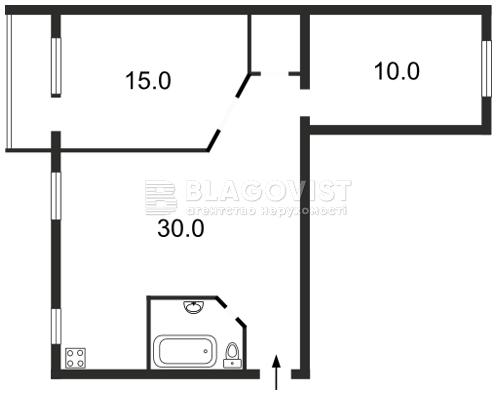 Квартира Z-768338, Коновальца Евгения (Щорса), 15 корпус 2, Киев - Фото 2