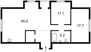 Квартира Крамского Ивана, 9, Киев, Z-1101881 - Фото2