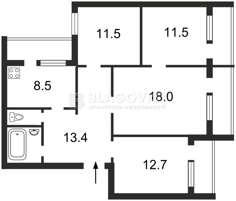 Квартира X-1944, Радужная, 3, Киев - Фото 4