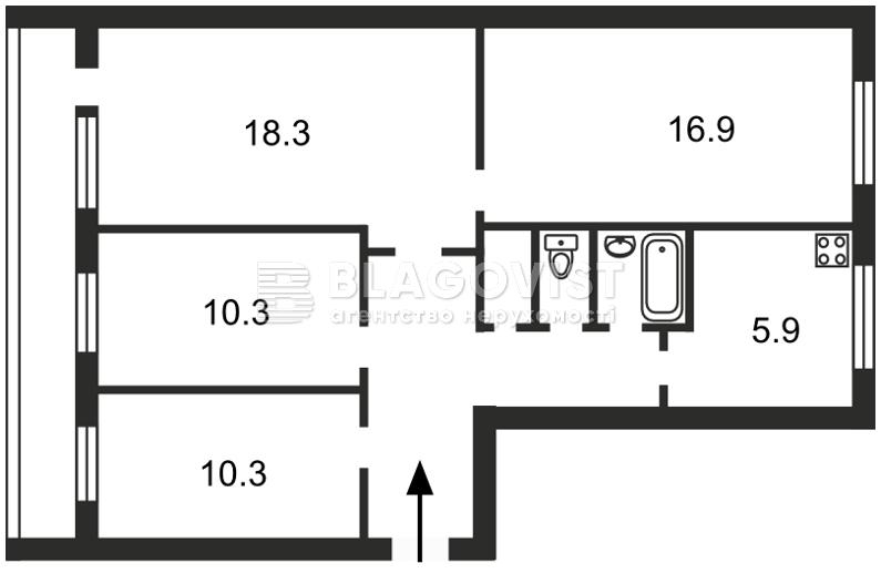 Квартира Z-1095674, Бойченко Александра, 14, Киев - Фото 3