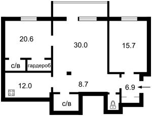 Квартира Большая Васильковская, 14, Киев, Z-1142858 - Фото2