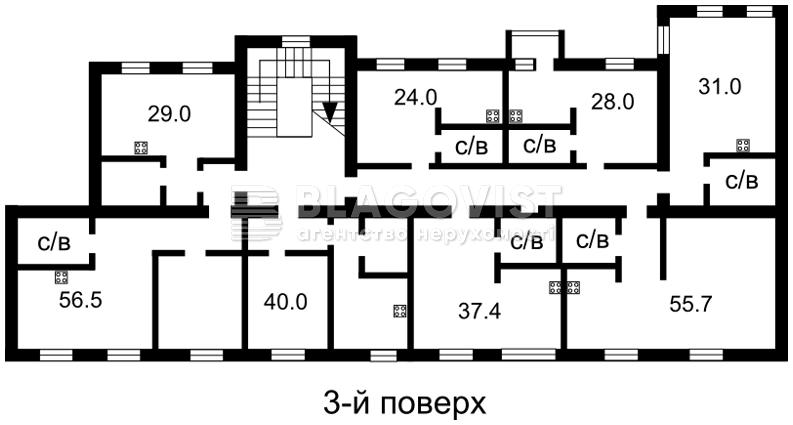 Гостиница, Большая Васильковская, Киев, A-95214 - Фото 3
