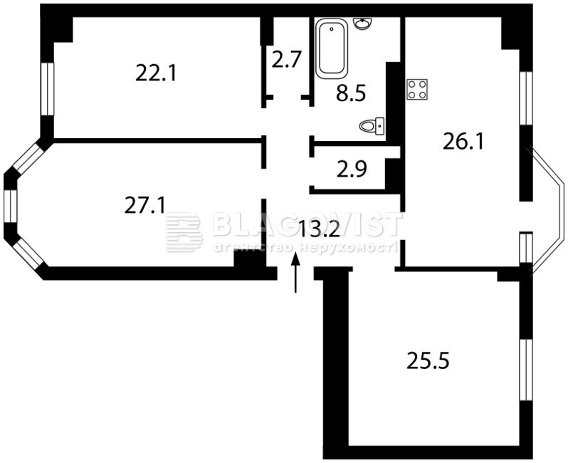 Квартира O-16562, Дяченка, 20, Київ - Фото 4
