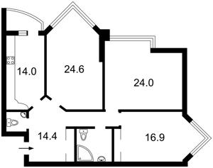 Квартира Бульварно-Кудрявская (Воровского) , 11а, Киев, J-16956 - Фото 2